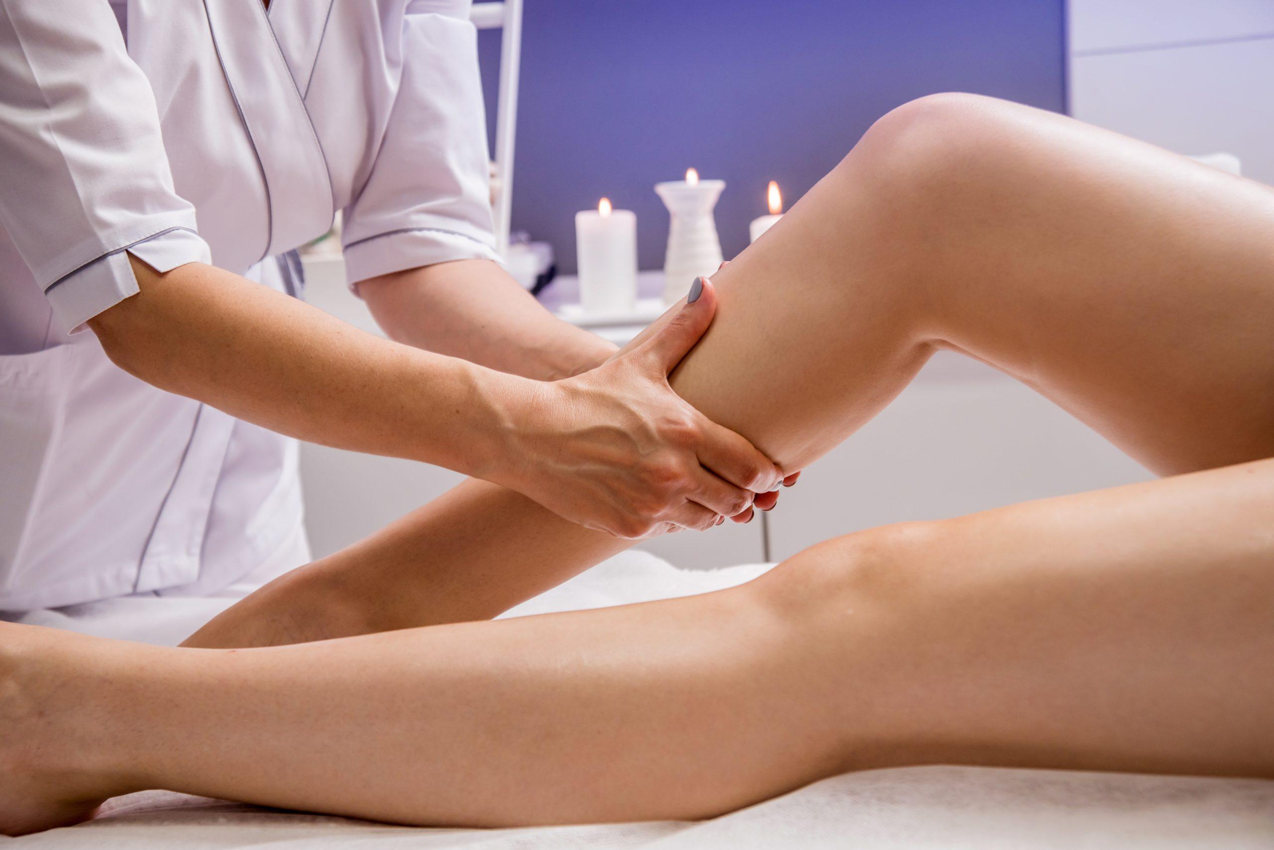 Thai massage - enjoy legs massage in spa salon